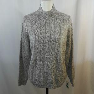 Karen Scott Marled Pearl Neck Sweater